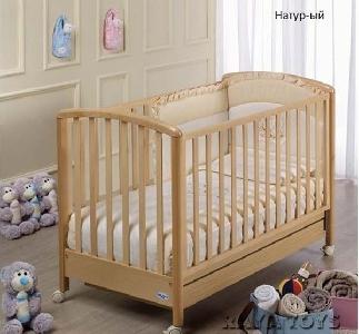 Детско дървено легло с натурален цвят // Dalia Baby Italia