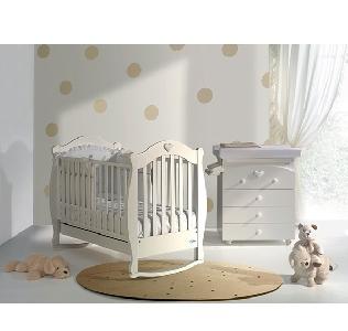 Бяло детско легло люлка  \'Suzy\' // Baby Italia