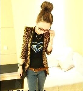 Дамско леопардово сако