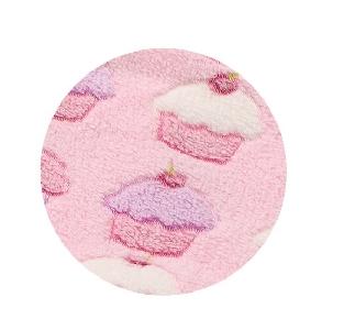 Релефна розова бебешка пелена \