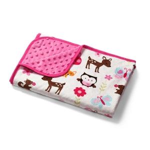 Розова бебешка пелена с 2 лица 75/100см. // Babyono