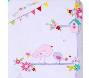 Бебешко одеало с птичка \