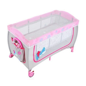 Розова детска кошара за сън и игра \