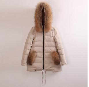 Дълго дамско зимно яке с пух