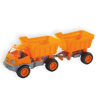 Камион с ремарке и гумени колела за деца - MOCHTOYS