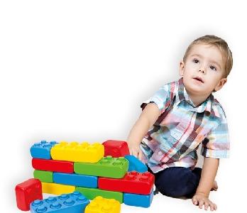 Блокчета за деца - игра тип конструктор -  гигант MOCHTOYS