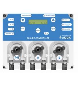 Kонтролна система за непрекъснато измерване на проводимостта и PH в резервоарите за вода. PH & EC CONTROLLER