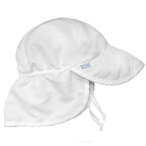 Бяла бебешка шапка за слънце // Lassig