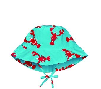 Шапка за бебета за слънце с периферия - Lassig Aqua Bird 6-18