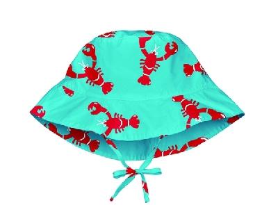 Шапка за бебета до 6 месеца - за слънце с периферия  Lassig Aqua Red Lobster