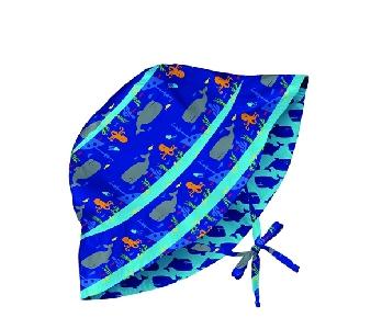 Двулицева слънцезащитна шапка за бебета от 6 до 18 месеца - Lassig Royal Shipwreck