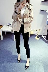 Дамско зимно кожено яке