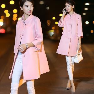 Модерно дамско дълго яке - пролетно и есенно