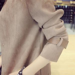 Дамско модерно яке - есенно-пролетно с декоративна кожа