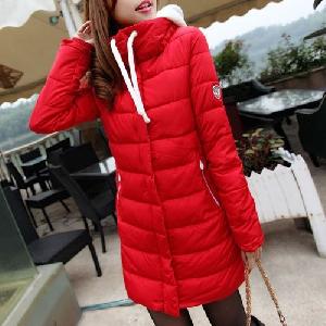 Дамско дълго зимно яке