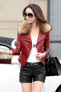 Дамско зимно кожено яке - модерно есенно, зимно, пролетно