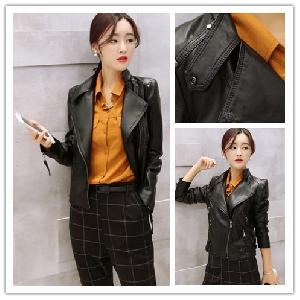 Кафяво дамско яке от изкуствена кожа