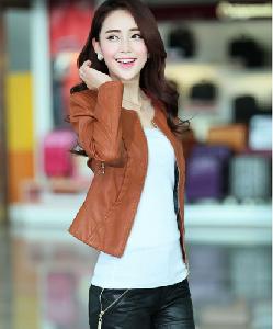 Μοντέρνο δερμάτινο γυναικώνμπουφάν φθινόπωρο-χειμώνα