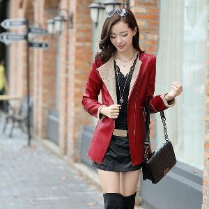 Γυναικείο μπουφάν από αφύσικη δέρμα  για το χειμώνα σε τρία διαφορετικά μοντέλα
