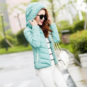 Модерно зимно дамско памучено яке - в различни размери и няколко цвята