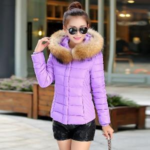 Дамско зимно яке с качулка - различни размери и 6 модела