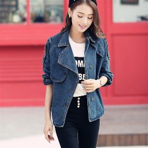 Дамско дълго дънково яке, есенно-зимно, избор от модели