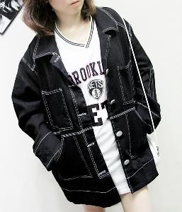 Γυναικείο  χειμωνιάτικο ζιν μπουφάν - σκούρο μοντέλο