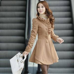 Дамско дълго зимно яке - три цвята
