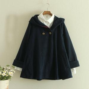Дамска връхна дреха с качулка, тип наметало,  - три модела, различни размери