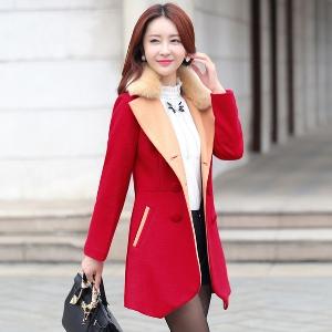 Зимно дамско палто - дълго, невероятни модели - черно, червено, зелено, синьо, лилаво