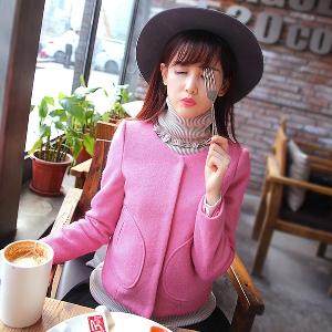 Дамско зимно памучено яке - бежово и розово, различни размери