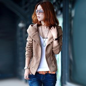 Дамско зимно яке с качулка - три цвята