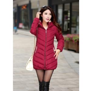 Дълго зимно памучно яке, есен и зима, - нова колекция