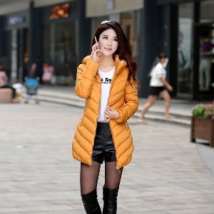 Μακρύ Γυναικείο μπουφάν για το  χειμώνα  βαμβακερό για το φθινόπωρο και το χειμώνα - νέα συλλογή