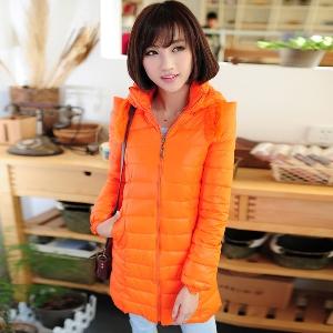 Γυναικείο  σύγχρονο   μπουφάν -Πορτοκαλί, κόκκινο, λευκό και μαύρο