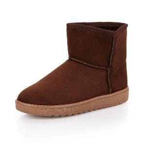 Дамски зимни плюшени обувки