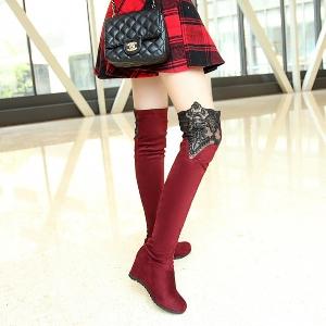 Дамски стилни дълги ботуши от изкуствена кожа - есенни и зимни - различни модели