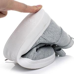Дамски обувки - черни и сиви - памучни модели - есенни, зимни, пролетни