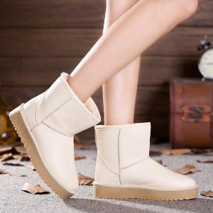 Γυναικείες χειμωνιάτικες ζεστές μπότες από τεχνητό δέρμα