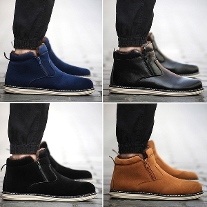 b67ac805e58 badu.gr - Ανδρικά βελούδινα χειμωνιάτικα παπούτσια - 4 σχέδια