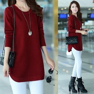Дамски пуловер- есенен и зимен, топъл и уютен - два цвята
