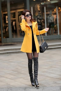 Дамско елегантно дълго есенно - пролетно палто - 7 различни модела