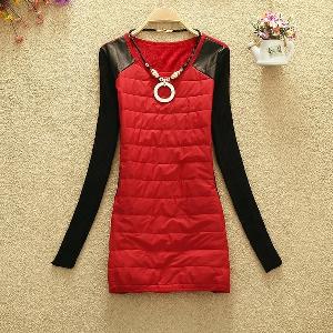 Дамска рокля,  есенна и зимна, дълга в четири цветови модела