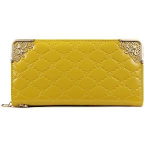 Дамски многофункционален порфейл от изкуствена кожа - голям избор от модели - син, жълт, черен, червен, розов, лилав, бял