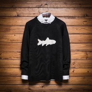 Мъжки зимен пуловер в три модела