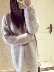 Дамски модерен зимен пуловер