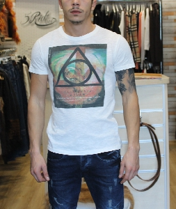 Бели мъжки тениски // 5Rich O.G