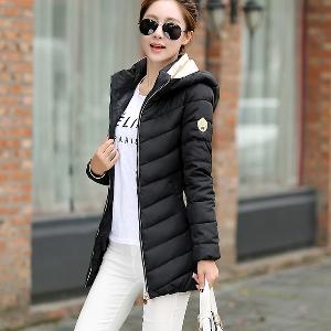 Дамски модерни зимни якета с качулка в няколко модела