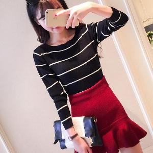 Модерен дамски пуловер в 5 цвята