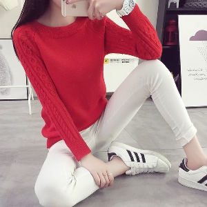 Модерен дамски пуловер в 6 различни цвята